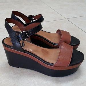 COACH platform leather sandals